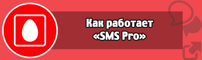 Как работает «SMS Pro»