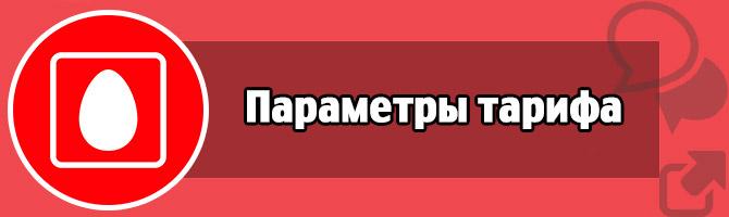 Параметры тарифа - описание